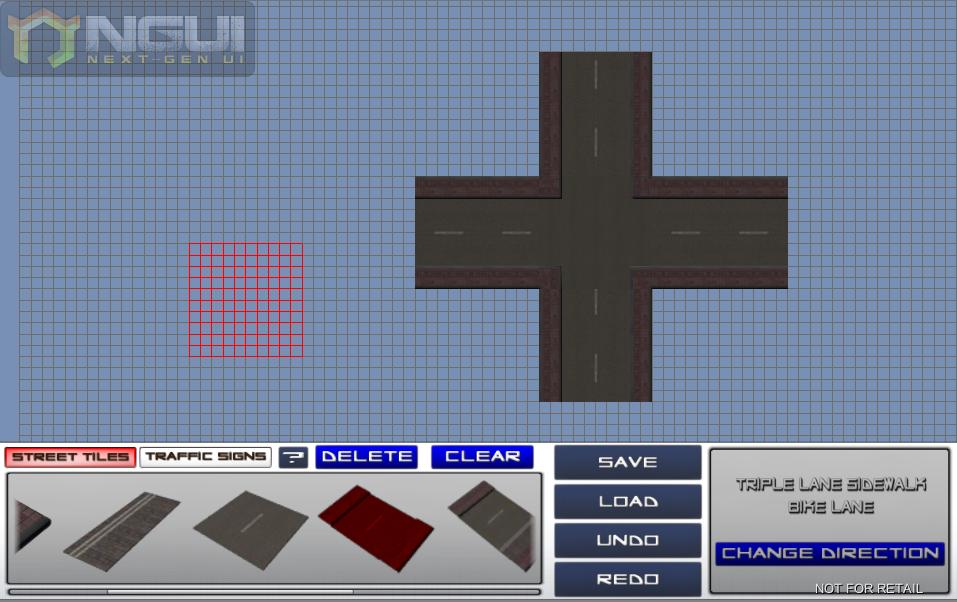 Ein Screenshot der Straßenerstellungssoftware.